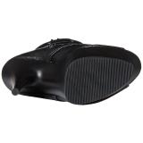 Noir Mat 15 cm DELIGHT-1033 Plateforme Bottines Bout Ouvert