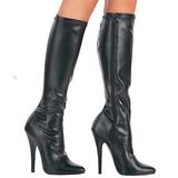 Noir Mat 15 cm DOMINA-2000 Bottes Femmes pour Hommes