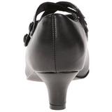Noir Mat 5 cm DAME-02 Escarpins Chaussures Femme