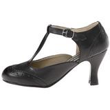 Noir Mat 7,5 cm FLAPPER-26 Escarpins Chaussures Femme