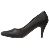 Noir Mat 7,5 cm PUMP-420 Chaussures Escarpins Classiques