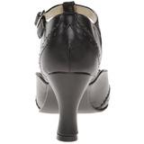 Noir Mat 7,5 cm retro vintage FLAPPER-26 escarpins à talons hauts