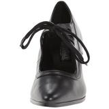 Noir Mat 7 cm retro vintage VICTORIAN-03 escarpins à talons hauts