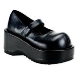Noir Mat 8,5 cm DOLLIE-01 Chaussures Escarpins Gothique Plateforme