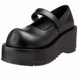Noir Mat 8,5 cm DOLLY-01 Chaussures Escarpins Gothique Plateforme