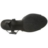 Noir Mat 8 cm BELLE-309 Talon Haut pour Hommes