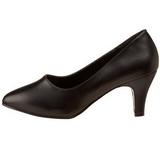Noir Mat 8 cm DIVINE-420W Escarpins Chaussures Femme