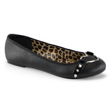 Noir Mat STAR-21 chaussures ballerines gothique talons plates