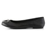 Noir Mat STAR-24 chaussures ballerines gothique talons plates