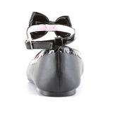 Noir Mat STAR-27 chaussures ballerines gothique talons plates