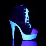 Noir Neon 15 cm DELIGHT-600SK-02 basket à talon aiguille en toile