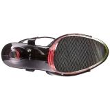 Noir Neon 20 cm Pleaser FLAMINGO-809UVLN Plateforme Haut Talon