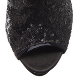 Noir Paillettes 15,5 cm BLONDIE-R-1008 Plateforme Bottines Femmes