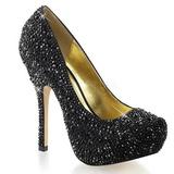 Noir Pierres Scintillantes 13,5 cm FELICITY-20 Chaussures femmes a talon