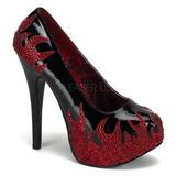Noir Pierres Scintillantes 14,5 cm Burlesque TEEZE-27 Chaussures femmes a talon