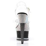 Noir Pierres Scintillantes 16,5 cm ILLUSION-658RS Chaussures femmes a talon