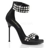 Noir Pierres Strass 11,5 cm CHIC-41 Chaussures Talon Haut