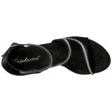 Noir Pierres Strass 13 cm COCKTAIL-526 Chaussures Talon Haut