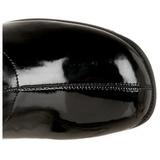 Noir RETRO-300 bottes disco - vernis bottes années 70 vintage