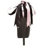 Noir Rose 14,5 cm Burlesque TEEZE-13 Chaussures pour femmes a talon