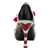Noir Rouge 10,5 cm QUEEN-03 Chaussures pour femmes a talon