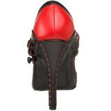 Noir Rouge 11,5 cm rockabilly TEMPT-10 Chaussures pour femmes a talon