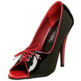 Noir Rouge 12,5 cm SEDUCE-216 Chaussures pour femmes a talon