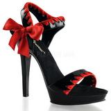 Noir Rouge 13 cm LIP-115 Chaussures Stilettos