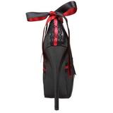 Noir Rouge 14,5 cm Burlesque TEEZE-13 Chaussures pour femmes a talon