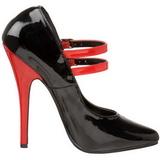Noir Rouge 15 cm DOMINA-442 Chaussures pour femmes a talon