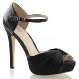 Noir Satin 12 cm LUMINA-48 Chaussures Escarpins de Soirée