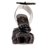 Noir Satin 12 cm PINUP BETTIE-06 Plateforme Haut Talon