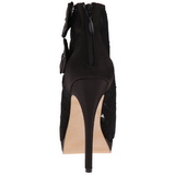 Noir Satin 13,5 cm BELLA-28 Peep Toe Plateforme Bottines