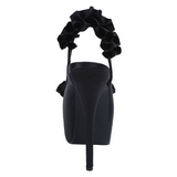 Noir Satin 14,5 cm Burlesque TEEZE-56 Sandales Talons Hauts