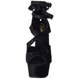 Noir Satin 15 cm Pleaser DELIGHT-678LC Plateforme Talons Hauts