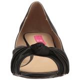 Noir Satin 5 cm FAB-422 grande taille escarpins femmes