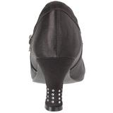 Noir Satin 8 cm FLAPPER-20 escarpins à talons hauts