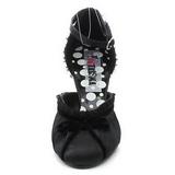 Noir Satin 8 cm RETRO-03 Escarpins Chaussures Femme