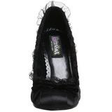 Noir Satin 9 cm DAINTY-420 Chaussures Escarpins Classiques