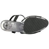 Noir Scintillement 15 cm DELIGHT-609-5G Talons Hauts Plateforme