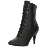 Noir Similicuir 10 cm DREAM-1020 grande taille bottines femmes