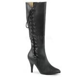 Noir Similicuir 10 cm DREAM-2026 grande taille bottes femmes