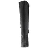 Noir Similicuir 10 cm DREAM-2030 grande taille bottes femmes