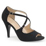 Noir Similicuir 10 cm DREAM-412 grande taille sandales femmes