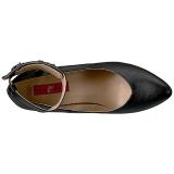Noir Similicuir 10 cm DREAM-432 grande taille escarpins femmes