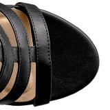Noir Similicuir 10 cm DREAM-438 grande taille bottines femmes