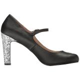 Noir Similicuir 10 cm QUEEN-02 grande taille escarpins femmes