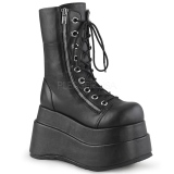 Noir Similicuir 11,5 cm BEAR-265 bottines demonia plateforme
