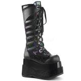 Noir Similicuir 11,5 cm DEMONIA BEAR-205 bottes plateforme gothique