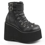 Noir Similicuir 11,5 cm KERA-21 bottines lolita talons compensées